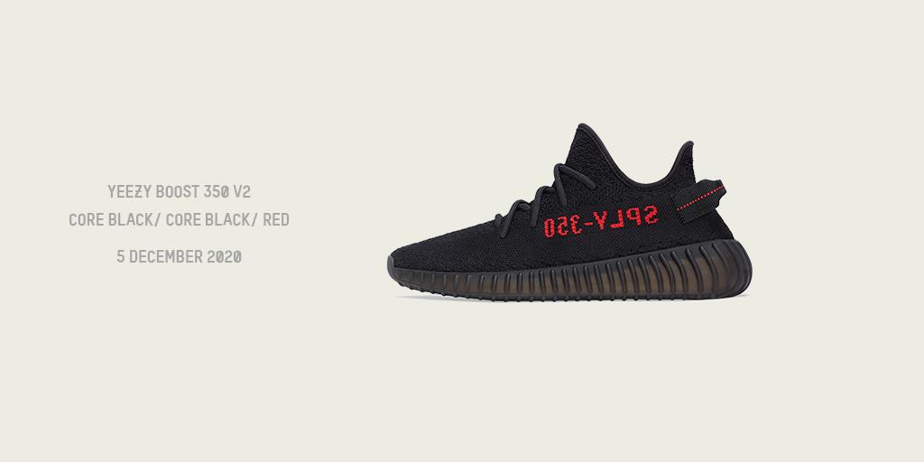 Yeezy, Yeezy Boost 350 V2 Core Black/Core Black/Red, Kanye West, adidas, adidas Originals