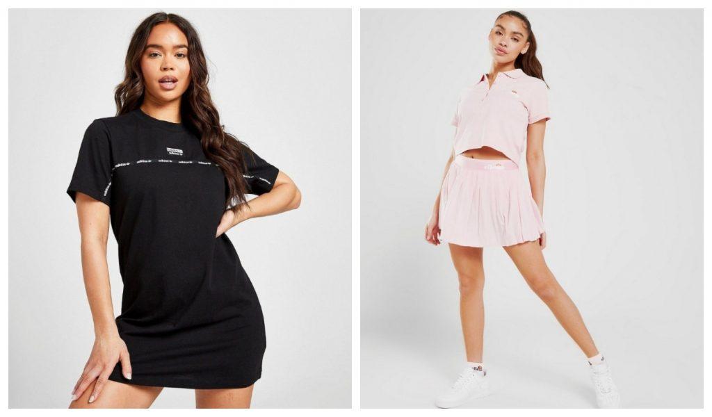adidas Originals T-shirtklänning, Ellesse Tenniskjol